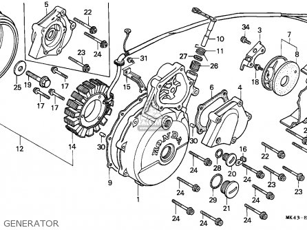 Honda XBR500 1985 (F) GERMANY parts lists and schematics