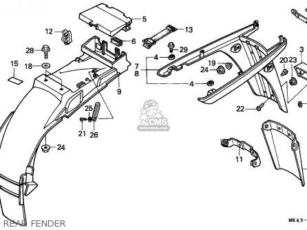 Honda XBR500 1985 (F) GERMANY parts lists and schematics