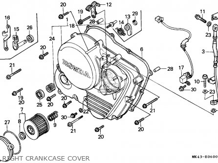 Honda Xbr500 1985 (f) Switzerland parts list partsmanual