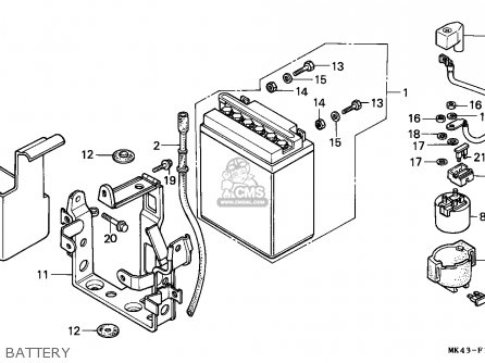 Honda XBR500 1986 (G) AUSTRALIA parts lists and schematics