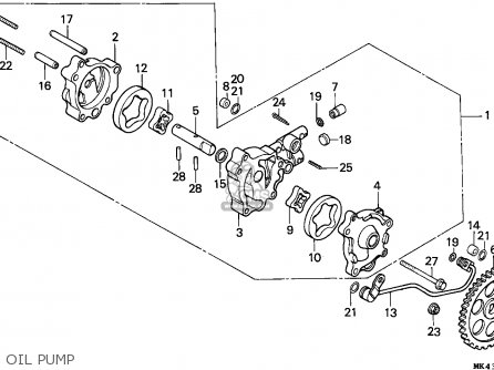 Honda Xbr500 1986 (g) England parts list partsmanual