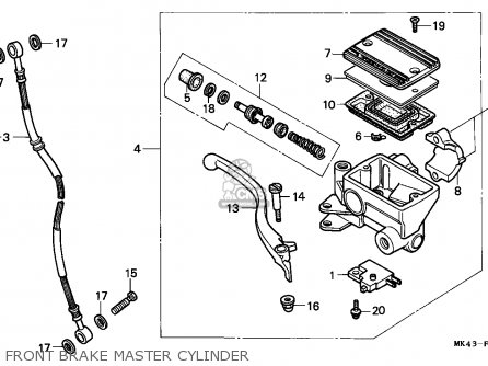 Honda Xbr500 1986 (g) European Direct Sales parts list