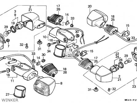 Honda XBR500 1986 (G) GERMANY parts lists and schematics