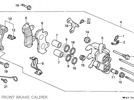 Honda Xbr500 1986 (g) Germany / 27p parts list partsmanual