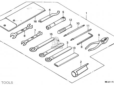 Honda Xbr500 1987 England parts list partsmanual partsfiche
