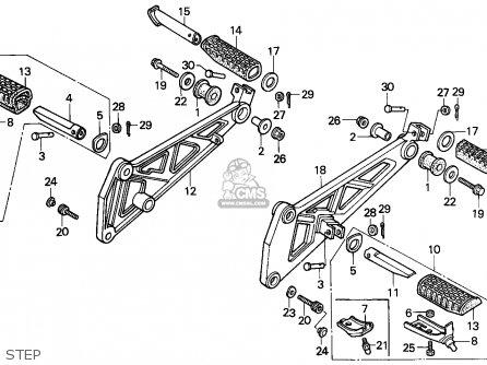 Honda Xbr500 1987 Germany parts list partsmanual partsfiche
