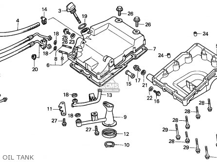 Honda XBR500S 1988 (J) GERMANY parts lists and schematics