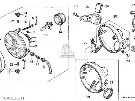 Honda XBR500S 1988 (J) NORWAY parts lists and schematics