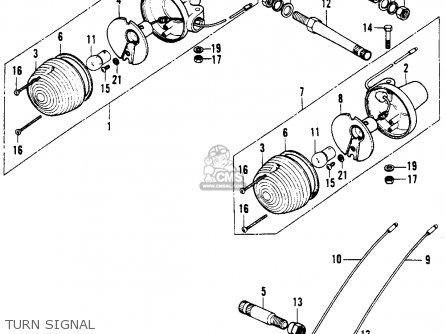 Honda XL100 1976 USA parts lists and schematics
