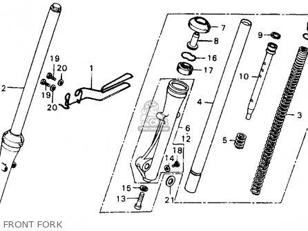 Honda Xl100 1977 Usa parts list partsmanual partsfiche