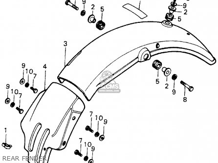Honda Xl100 1978 Usa parts list partsmanual partsfiche