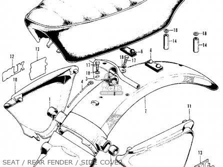 Honda XL100 K0 1974 USA parts lists and schematics