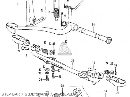 Honda Xl100 K0 1974 Usa parts list partsmanual partsfiche