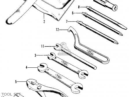 Honda Xl100 K0 1974 Usa parts list partsmanual partsfiche