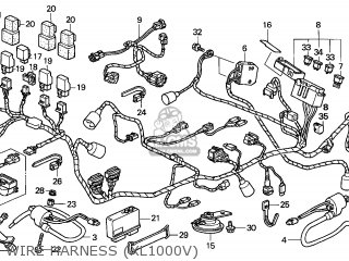 Honda XL1000V VARADERO 2003 (3) ENGLAND parts lists and