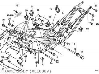 Honda XL1000V VARADERO 2004 (4) FRANCE parts lists and