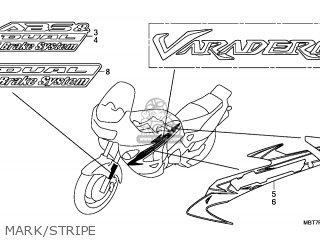 Honda XL1000V VARADERO 2010 (A) IRELAND / TYPE 6 parts