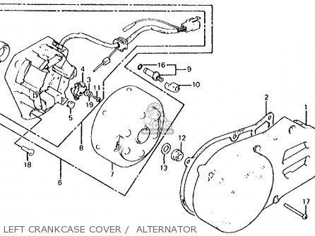 Honda Xl100s 1981 (b) Usa parts list partsmanual partsfiche