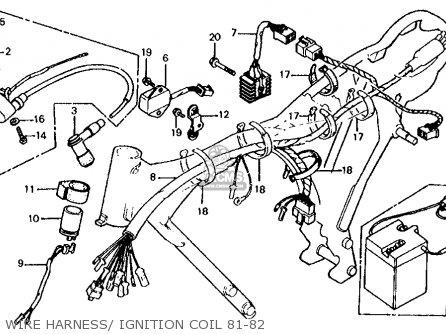 Honda XL100S 1981 (B) USA parts lists and schematics