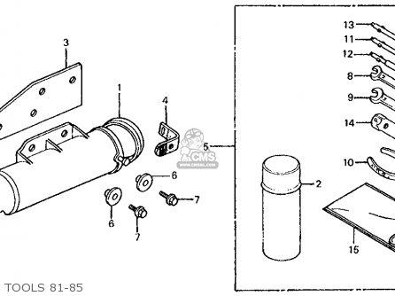 Honda Xl100s 1984 Usa parts list partsmanual partsfiche