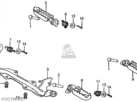 Honda Xl100s 1985 (f) Usa parts list partsmanual partsfiche
