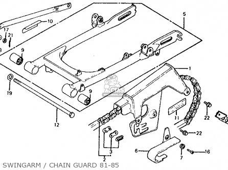 Honda Xl100s 1985 (f) Usa parts list partsmanual partsfiche