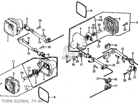 Honda XL100S 1985 (F) USA parts lists and schematics