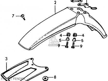 Honda Xl125 1976 Usa parts list partsmanual partsfiche