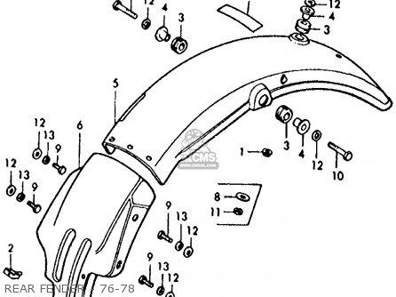 Honda XL125 1976 USA parts lists and schematics