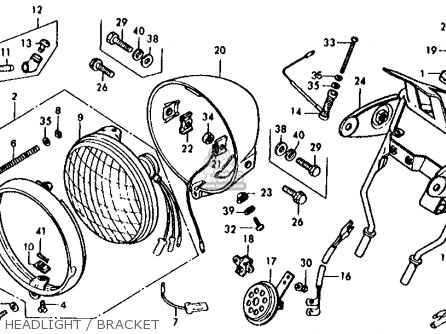 Honda Xl125 1977 Usa parts list partsmanual partsfiche