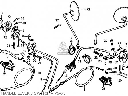 Honda Xl125 1978 Usa parts list partsmanual partsfiche