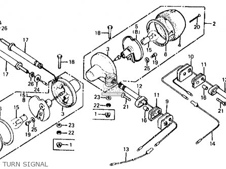 Honda Xl125 1978 Usa parts list partsmanual partsfiche