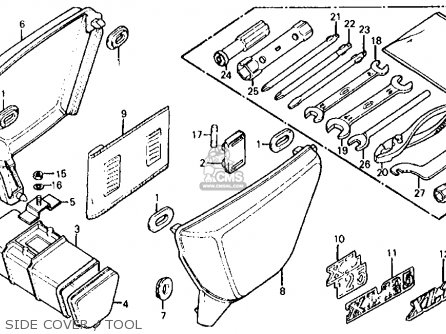Honda Xl125 K0 1974 Usa parts list partsmanual partsfiche
