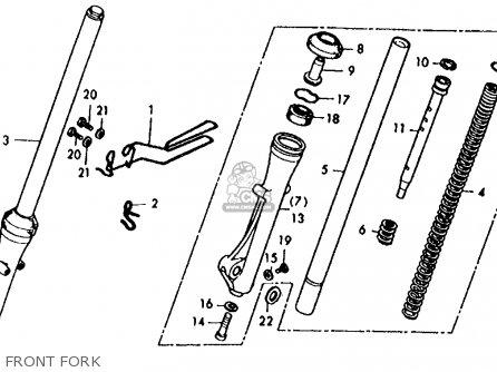 Honda Xl125 K1 1975 Usa parts list partsmanual partsfiche