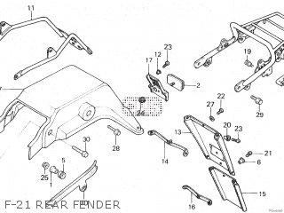 Honda XL125R 1987 (H) parts lists and schematics
