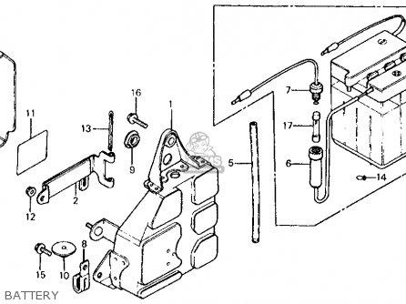 Honda Xl125s 1981 (b) Usa parts list partsmanual partsfiche