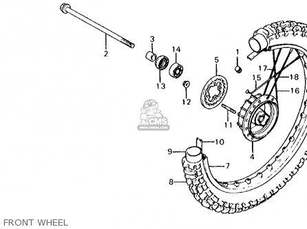 Honda Xl125s 1981 Usa parts list partsmanual partsfiche