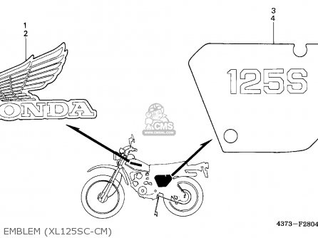 Honda Xl125s 1982 (c) Canada / Kph parts list partsmanual