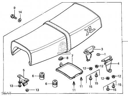Honda Xl125s 1987 (h) France / Kph parts list partsmanual