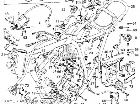 Honda Xl175 K1 1974 Usa parts list partsmanual partsfiche