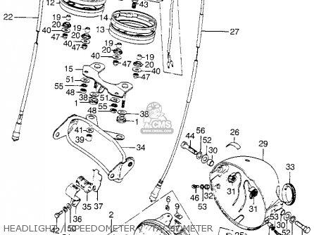 Honda Xl175 K1 1974 Usa parts list partsmanual partsfiche