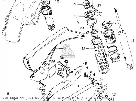 Honda XL175 K1 1974 USA parts lists and schematics