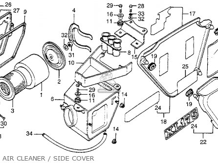 Honda Xl175 K3 1976 Usa parts list partsmanual partsfiche
