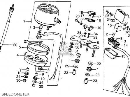 Honda Xl175 K3 1976 Usa parts list partsmanual partsfiche