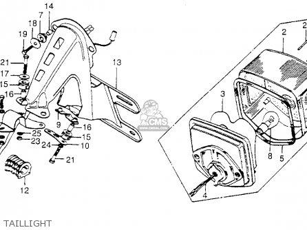 Honda Xl175 K4 1977 Usa parts list partsmanual partsfiche