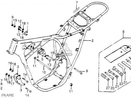 Honda XL175 K5 1978 USA parts lists and schematics
