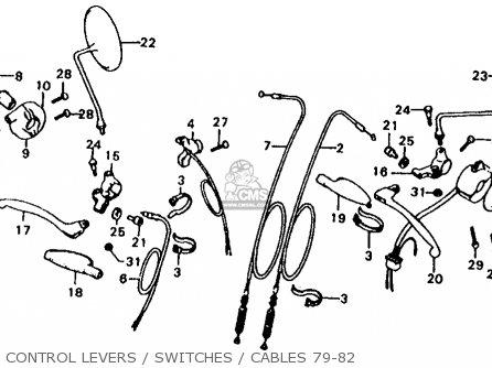 Honda XL185S 1979 (Z) USA parts lists and schematics