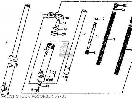 Honda Xl185s 1980 Usa parts list partsmanual partsfiche