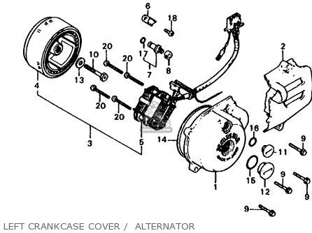 Honda Xl185s 1981 (b) Usa parts list partsmanual partsfiche