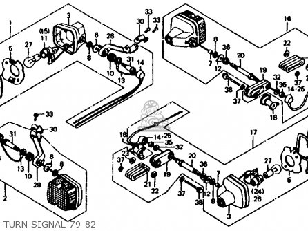 Honda XL185S 1981 (B) USA parts lists and schematics